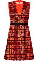 Roksanda Ilincic Patterned Cocktail Dress - Lyst