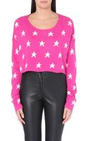 Wildfox Starlight Cropped Knitted Jumper - Lyst