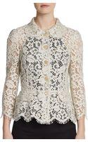 Dolce & Gabbana Lace Peplum Jacket - Lyst