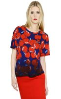 Sonia By Sonia Rykiel Oversized Apple Printed Cotton Tshirt - Lyst