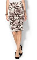 Three Dots Fitted Skirt - Lyst