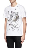 McQ by Alexander McQueen Insect and Bone Print Tshirt - Lyst