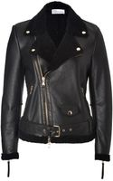 RED Valentino Shearling Biker Jacket - Lyst