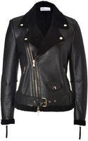 RED Valentino Shearling Biker Jacket - Lyst