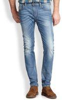 Diesel Thavar Distressed Jeans - Lyst