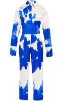 Osman Yousefzada Stretch Cotton Printed Ink Stain Open Back Jumpsuitâ - Lyst