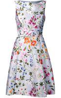 Oscar de la Renta Floral Dress - Lyst