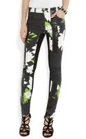 3.1 Phillip Lim Printed Highrise Skinny Jeans - Lyst