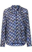 Topshop  Tile Print Pyjama Shirt  - Lyst