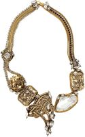 Erickson Beamon Heart Of Gold Necklace - Lyst