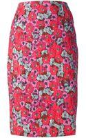 Andrea Incontri Floral Print Pencil Skirt - Lyst
