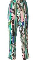 Etro Cropped Patterned Trouser - Lyst