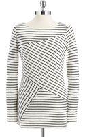 Calvin Klein Performance Asymmetrical Striped Top - Lyst