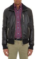 Michael Bastian Quilted Leather Moto-bomber Jacket - Lyst