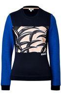 Kenzo Cotton Colorblock Sweatshirt - Lyst