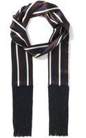 Joseph Satin College Stripe Scarf - Lyst