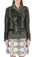 Sacai Leather and Wool-blend Jacket - Lyst