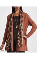 Eileen Fisher Blurred Silkwool Wrap - Lyst