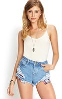 Forever 21 Crochet Lace Trimmed Cami - Lyst