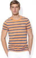 Ralph Lauren Polo Multi Striped Jersey Pocket Tshirt - Lyst