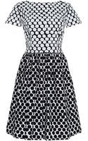 Oscar de la Renta Printed Cotton-blend Dress - Lyst