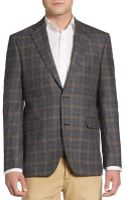 Saks Fifth Avenue Black Label Slim-fit Wool Plaid Sportcoat - Lyst
