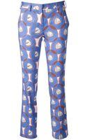 L'Autre Chose Printed Trousers - Lyst