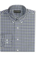Lauren by Ralph Lauren Noniron Poplin Check Dress Shirt - Lyst