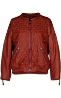 Isabel Marant Leather Outerwear - Lyst