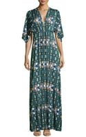 Rachel Pally Mixed Geometric Print Caftan Dress - Lyst