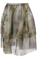 Christian Wijnants Printed Sheer Detail Skirt - Lyst
