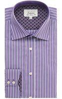 Ted Baker Walcot Regular Fit Stripe Shirt - Lyst