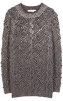 Tory Burch Shawn Wool and Silk-blend Sweater - Lyst