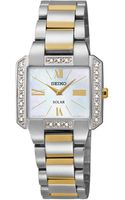 Seiko Womens Solar Diamond Accent Twotone Stainless Steel Bracelet Watch 27mm Sup239 - Lyst