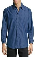 Robert Graham Classic Fit Greek Key Paisley Sport Shirt Navy Small - Lyst