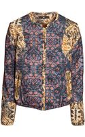 H&M Patterned Bomber Jacket - Lyst