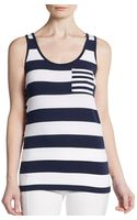 French connection Fast Fun Striped Tank Top - Lyst