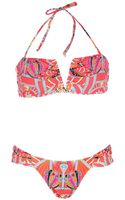 Mara Hoffman Ananda Coral Vwire Bikini - Lyst