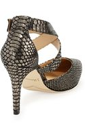 J. Reneé Aziza Snakeprint Leather Sandal - Lyst