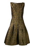 Oscar de la Renta Brocade Dress - Lyst
