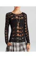 Free People Top Floral Lace Stretch - Lyst