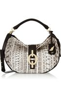 Diane Von Furstenberg Sutra Hobo Medium Leather and Watersnake Shoulder Bag - Lyst