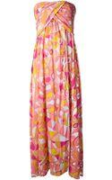 Emilio Pucci Printed Maxi Dress - Lyst