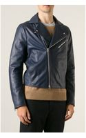 Acne Studios Gibson Suede and Leather Jacket - Lyst