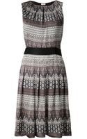 L'Agence Geometric Print Dress - Lyst