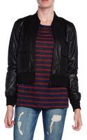 Current/Elliott The Shrunken Leather Jacket - Lyst