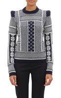 Maison Martin Margiela Mixed-knit Sweater - Lyst