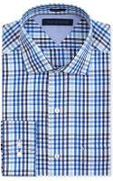 Tommy Hilfiger Blue Multigingham Dress Shirt - Lyst