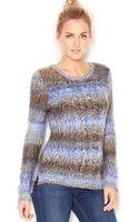 Kensie Long-sleeve Scoop-neck Ombré Sweater - Lyst