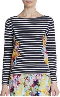 Sachin & Babi Solange Striped Floral Top - Lyst